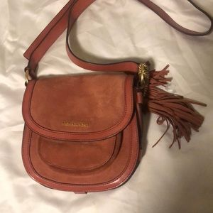 Michael Kors Dunn suede saddle bag